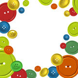 Background with colorful sewing buttons Stock Image
