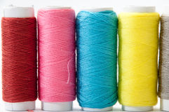 Background of colorful sewing thread Royalty Free Stock Photos