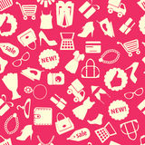 Background with colorful shopping icons Stock Image