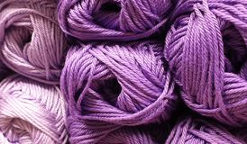 Yarn purple royalty free stock photo
