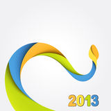 Background with colorful snake. 2013 Royalty Free Stock Image