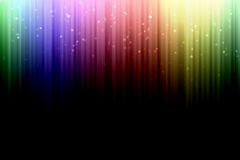 Background with colorful spectrum stripes,  with star bokeh Royalty Free Stock Photo