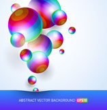 Background with colorful spheres Stock Photography