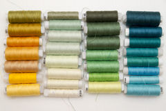 Background of colorful spools of thread Stock Photography