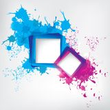 Background with colorful spots and frame for text Royalty Free Stock Image