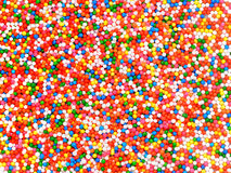 Background of colorful sprinkles, jimmies for cake decoration or Royalty Free Stock Photography