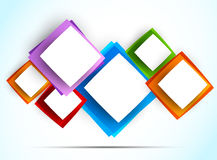 Background with colorful squares. Abstract illustration Stock Photo