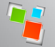 Background with colorful squares Royalty Free Stock Photo