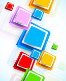 Background with colorful squares Royalty Free Stock Images