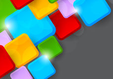 Background with colorful squares. Abstract illustration Royalty Free Stock Photo