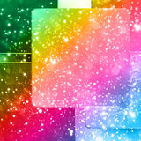 Background with colorful squares Stock Photography