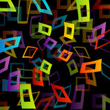 Background with colorful squares. With different thickness royalty free illustration