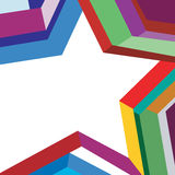 Background colorful star. Rainbow star on a white background Royalty Free Stock Image