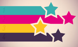 Background with colorful stars. Vector illustration Stock Photos
