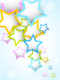 Background with colorful stars Royalty Free Stock Photography
