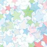 Background with colorful stars Royalty Free Stock Images