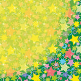 Background, Colorful Stars. Abstract Holiday Background, Pattern of Colorful Stars. contains transparencies. Vector Stock Photography