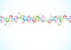 Background with colorful stars Royalty Free Stock Image