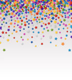 Background with Colorful Stars. Colorful background with confetti of stars, for greeting cards and celebrations, EPS 10 Royalty Free Stock Photos