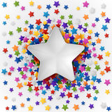 Background with Colorful Stars. Colorful background with confetti of stars, for greeting cards and celebrations, EPS 10 Stock Photos