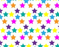 Background with colorful stars vector illustration