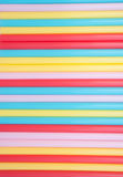Background of colorful straws Stock Image