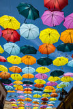 Background colorful street decoration,Madrid Royalty Free Stock Images