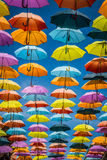 Background colorful street decoration,Madrid Stock Images