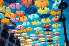 Background colorful street decoration,Madrid Royalty Free Stock Photo
