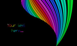 Background with colorful stripes Stock Image