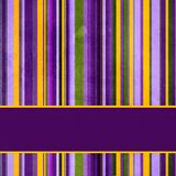 Background with colorful  stripes and banner Royalty Free Stock Photography