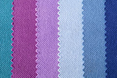 Background of colorful stripes of cotton fabric, texture Stock Photos