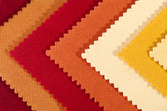 Background of colorful stripes of cotton fabric, texture Stock Photography