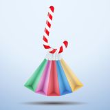 Background colorful Sweet Christmas shopping Royalty Free Stock Photos