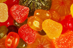Background of colorful sweetmeats and jelly closeup Royalty Free Stock Image