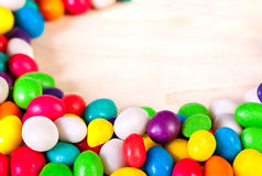Background  colorful sweets of sugar candies Royalty Free Stock Images