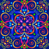 background with colorful swirls ornaments and precious stones Royalty Free Stock Images