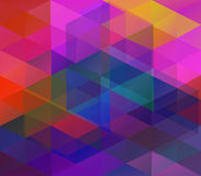 Background with colorful triangles Stock Image