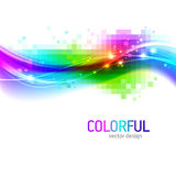 Background with colorful wave. Abstract background with colorful wave vector illustration