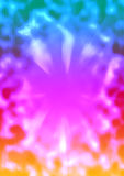 Background colorful wave and sunburst. The illusion of a computer Stock Photos