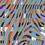 Background with colorful Zebra skin pattern Stock Image