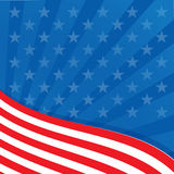 Background in colors of the American flag. Stock Photo