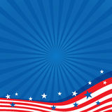 Background in colors of the American flag. Royalty Free Stock Photo