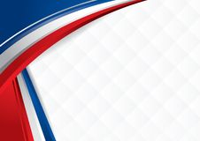 Background with colors of the flag of USA, Costa Rica, Chile, to use as Diploma or Certificate. Vector image Royalty Free Stock Image