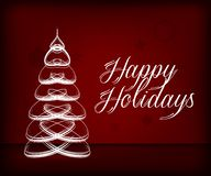 background colors holiday red yellow Πρότυπο ευχετήριων καρτών Χριστουγέννων με τις επιθυμίες καλές διακοπές διάνυσμα διανυσματική απεικόνιση