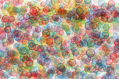 Background from colour circles Stock Photography
