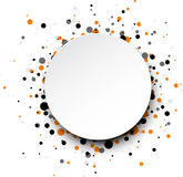 Background with colour drops. White round background with colour drops. Vector paper illustration stock illustration