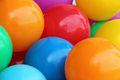 A background of colour plastic balls Stock Image