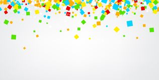 Background with colour squares. White abstract background with colour squares. Vector paper illustration vector illustration