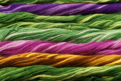 Background of colour threads stock image